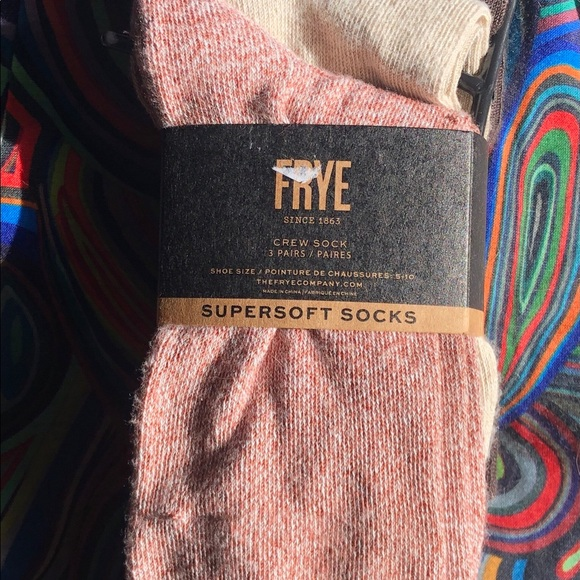 FRYE crew 3 pairs Sz. 5-10 NWT SUPERSOFT